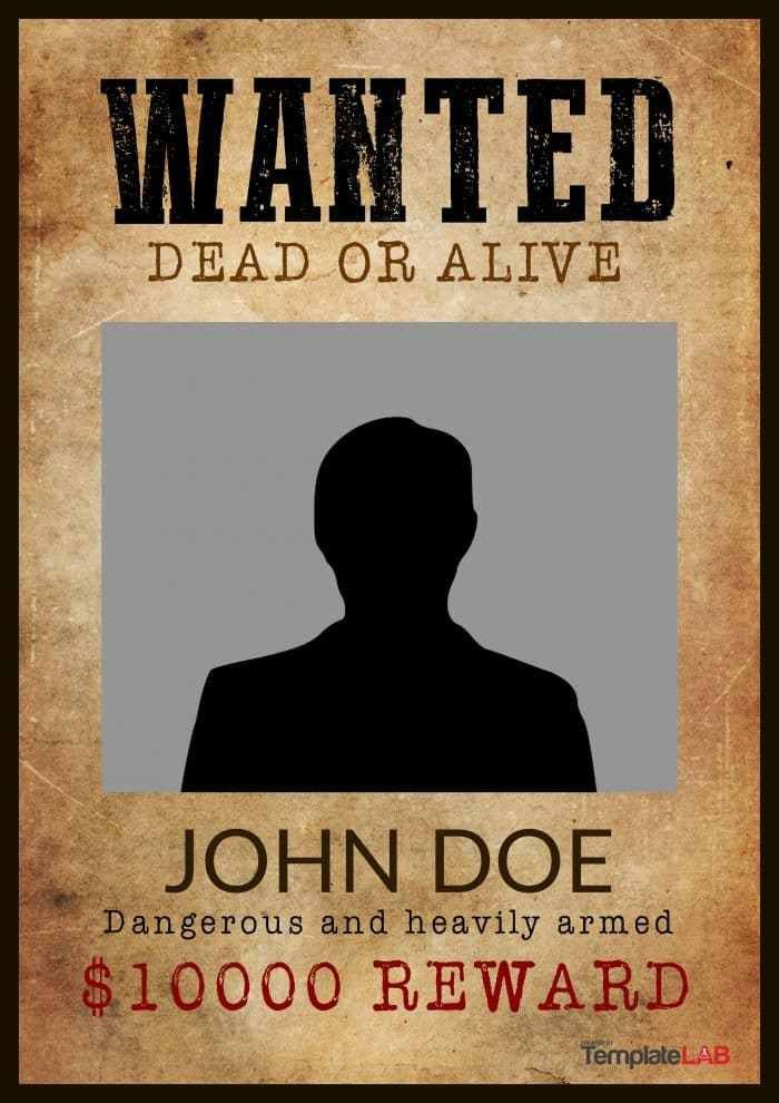 Wanted Poster Template Publisher Wanted Poster Template 19 – Wanted Poster Template Download