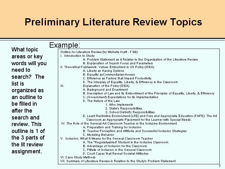 Apa format literature review sample - Writing an Academic ...