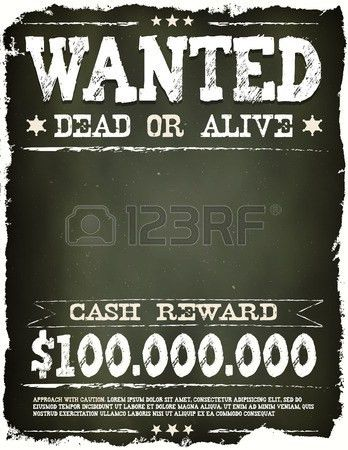 2,850 Reward Poster Stock Illustrations, Cliparts And Royalty Free ...