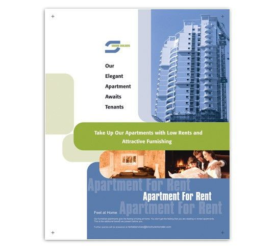 Low rent apartment flyer templates