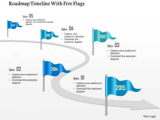 Business Diagram Roadmap Timeline With Five Flags Presentation ...