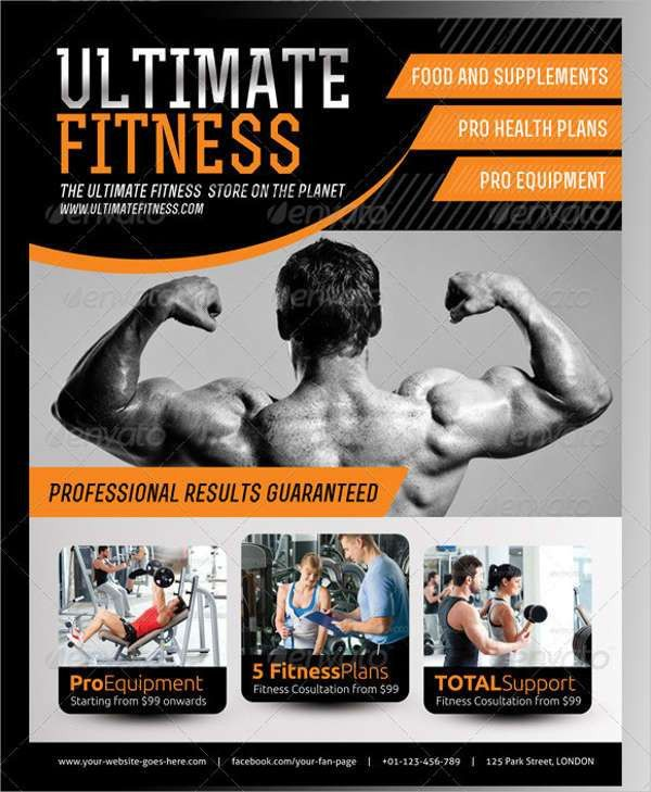 46+ Printable Fitness Flyers | Free & Premium Templates