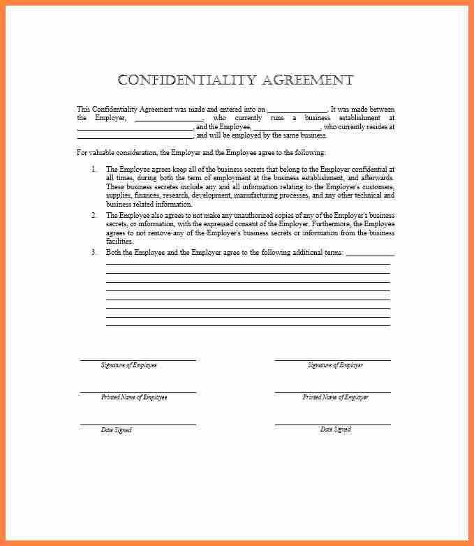 Staff Confidentiality Agreements. Confidentiality Agreement Image ...