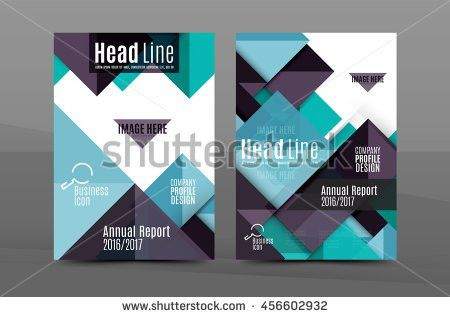 Squares Triangles Annual Report Cover Template Stock Vector ...