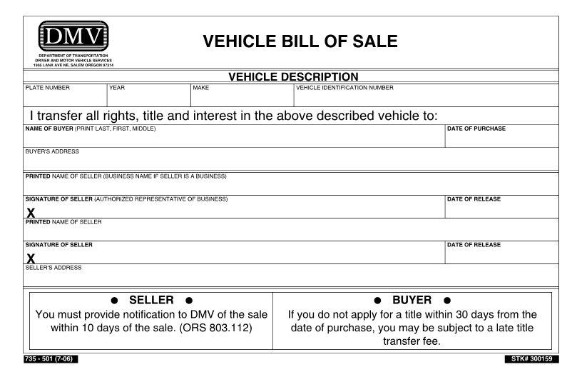 print bill of sales - Template