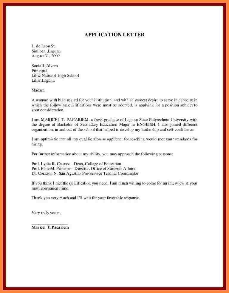 10+ Examples of Unsolicited Application letter | Bussines Proposal ...