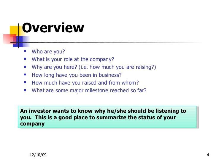Business Overview Template | business letter template