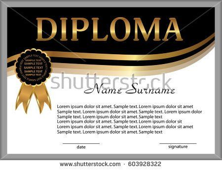 Vector Certificate Achievement Template Award Winner Stock Vector ...