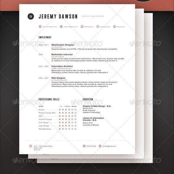 27 Creative Photoshop & InDesign Resume Templates | Wakaboom