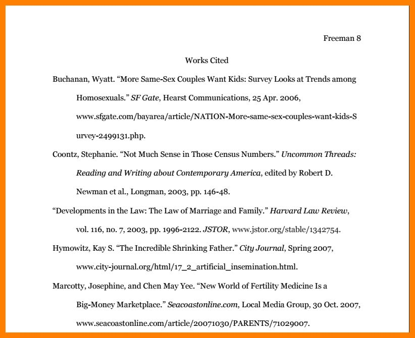 8+ mla 8 citation page example | science-resume