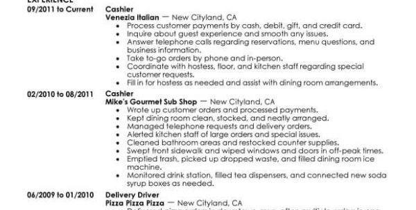 choose. fast food resume samples intended for ucwords. server ...