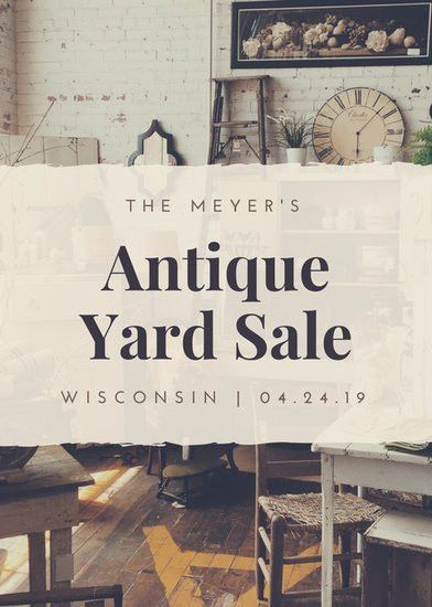 Yard Sale Flyer Templates - Canva