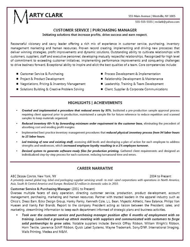 Food Service Manager Resume | berathen.Com