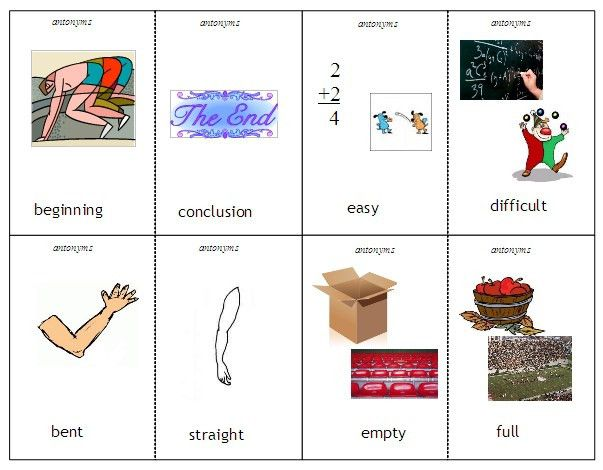 Antonyms and Synonyms – word lists, activities, and worksheets ...