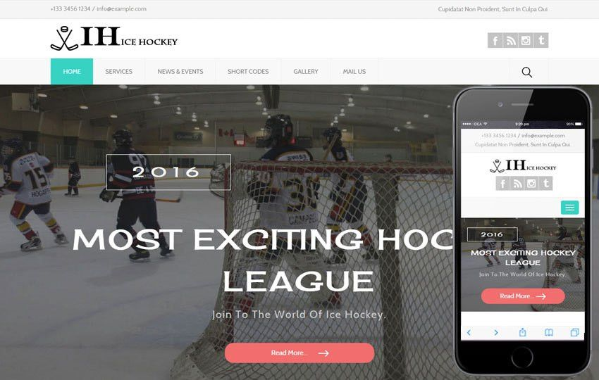 Ice Hockey a Sports Category Flat Bootstrap Responsive Web ...