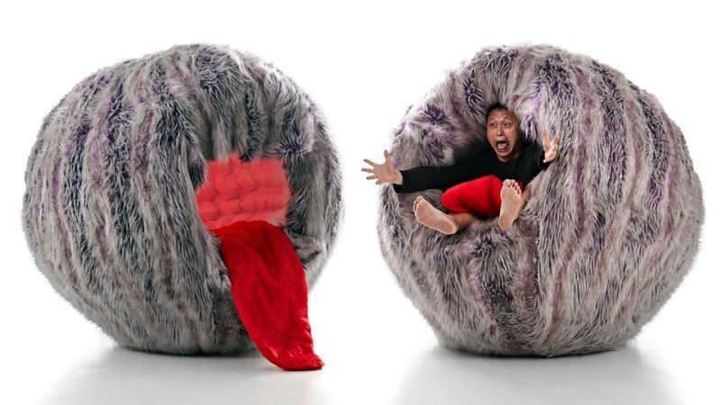 Being Gobbled Up By This Furry Monster Chair Looks Incredibly Comfy