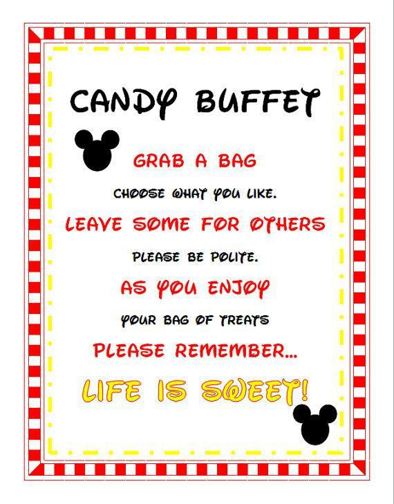 Best 25+ Candy buffet signs ideas on Pinterest | Candy table ...
