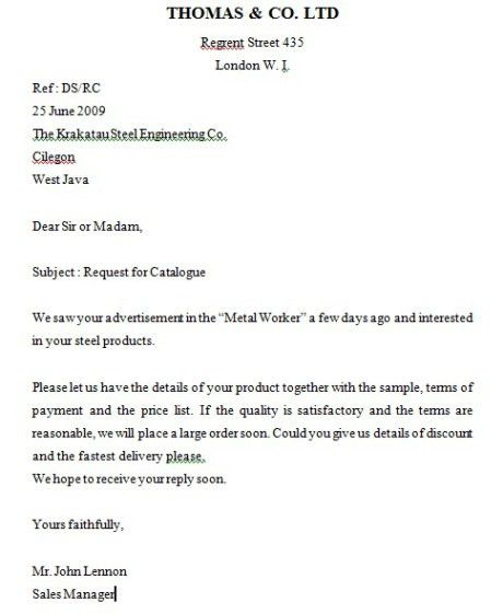 Inquiry Letter (Surat Permintaan) | Outsider 100%