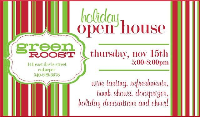 Christmas Open House Invitations Template | Best Template Collection