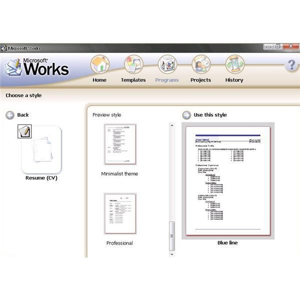 Using CV Templates For Microsoft Works