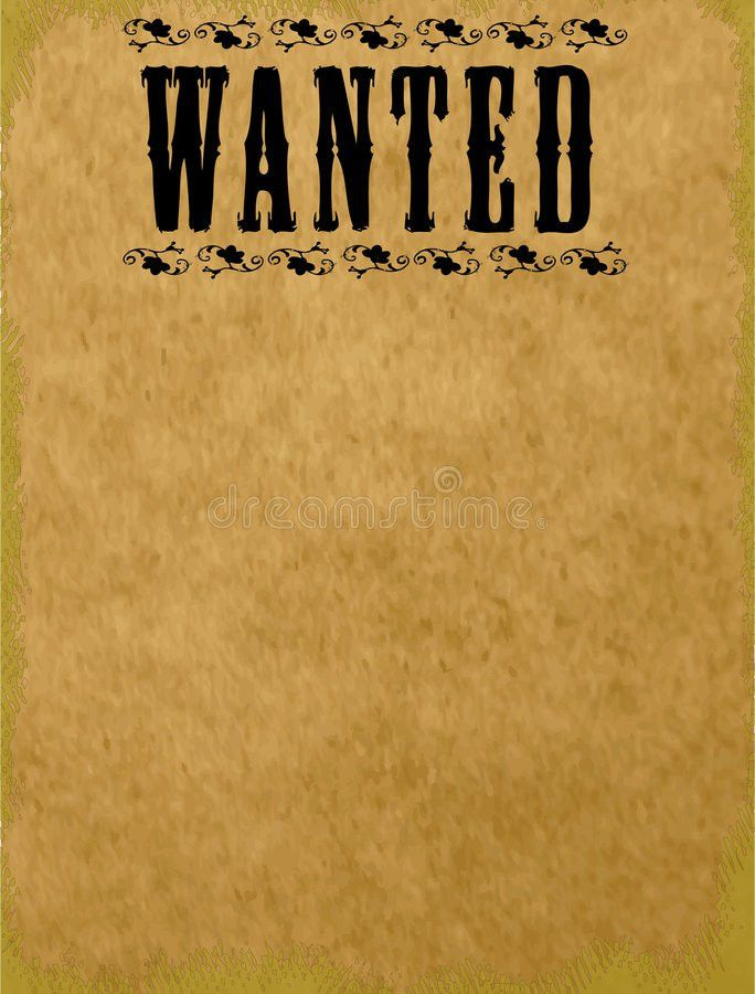 Blank Wanted Poster Royalty Free Stock Images - Image: 7195699