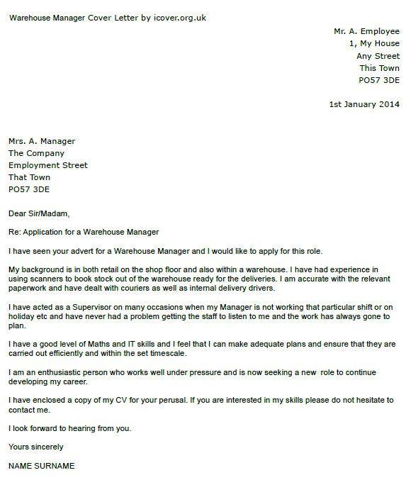 Cover Letter For Warehouse Operative Jobapplicationsuk Warehouse ...