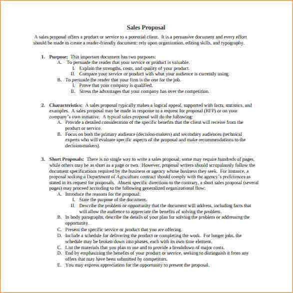 Sales proposal template - Business Proposal Templated - Business ...
