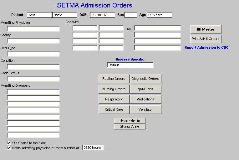SETMA.com | EPM Tools | Nursing Home Suite of Templates Tutorial