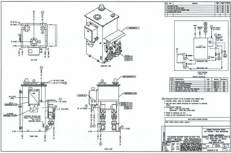 Catalog: Marine Sewage Treatment - Sewage Lift Station: Drawing ...