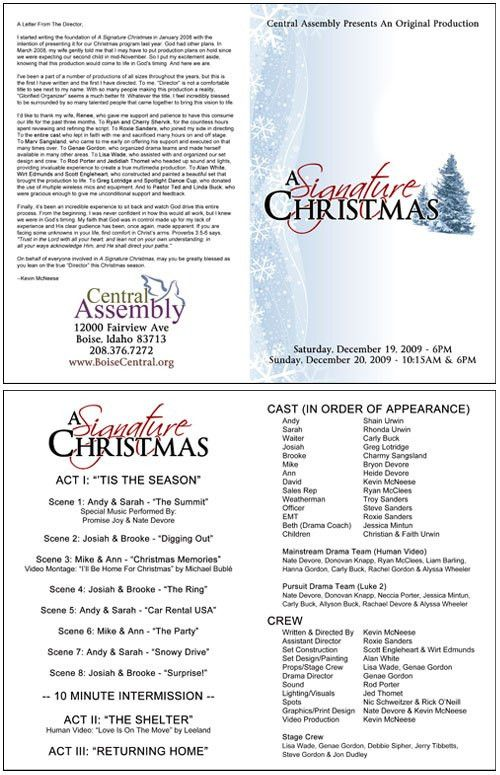 Church Christmas Program Template | Signature Christmas Annual ...