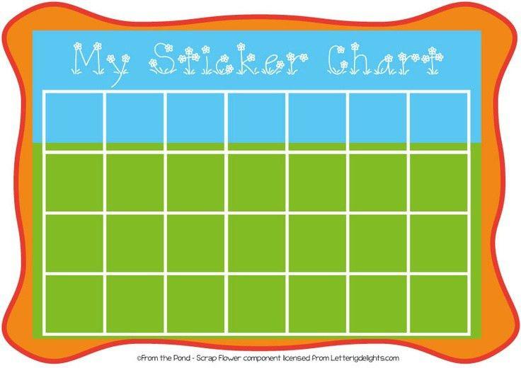 Sticker Chart Free Printable   Printable Maps