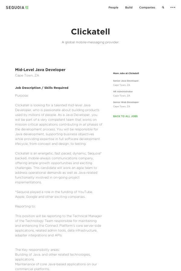 Mid-Level Java Developer job at Clickatell in Cape Town, South ...