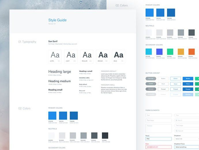 40 Great Examples Of UI Style Guides | Web & Graphic Design | Bashooka