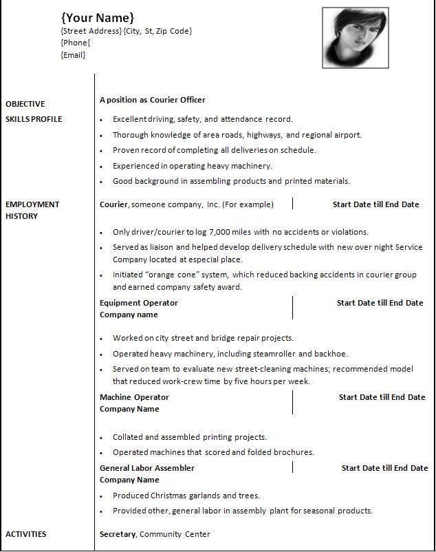 Download Resume Template Word 2010 | haadyaooverbayresort.com