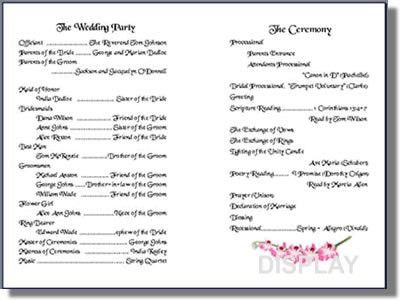 Wedding Program Templates from Thinkwedding's Print Your Own ...