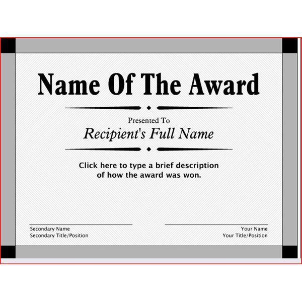 Award Templates Free Printable | Certificate Templates
