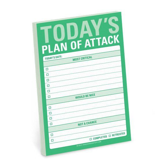 Today's Plan of Attack Great Big Sticky Notes | Knock knock and ...