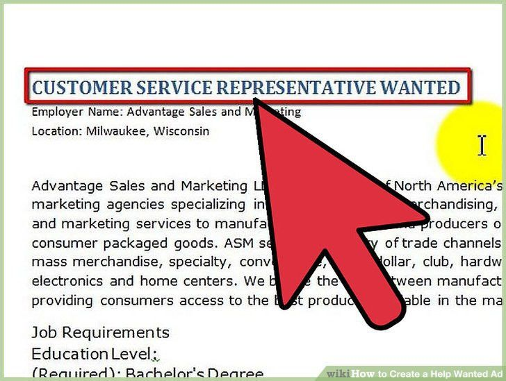 How to Create a Help Wanted Ad: 5 Steps (with Pictures) - wikiHow