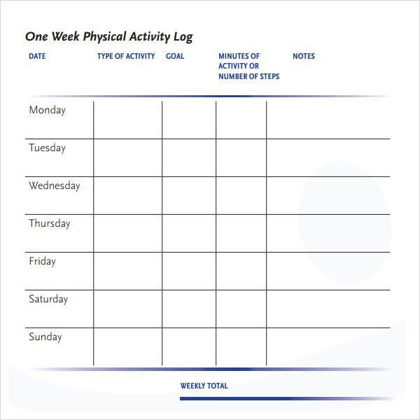 Activity Log Template – 12+ Free Word, Excel, PDF Documents ...