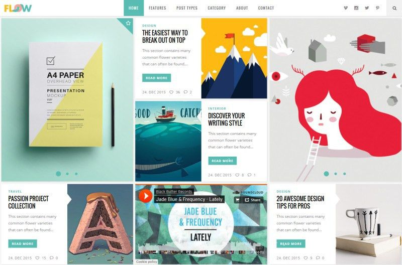 30+ The Most Creative WordPress Themes of 2017