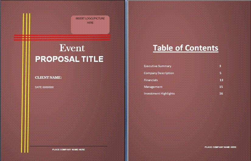 11+ Event proposal sample templates - Word Excel PDF Formats