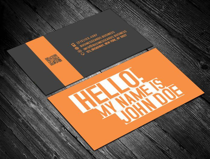 Free Name Tag Card Template for Photoshop : Business Cards Templates