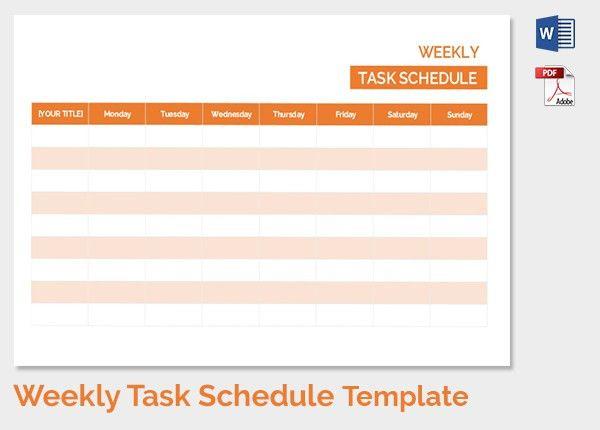 Weekly Schedule Template - 13+ Free Word, Excel, PDF Download ...