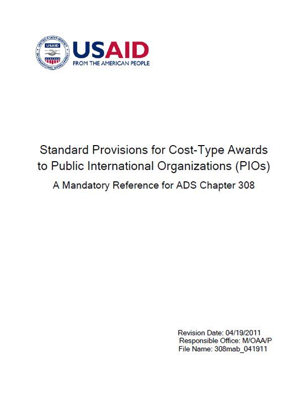 ADS Reference 308mab | U.S. Agency for International Development