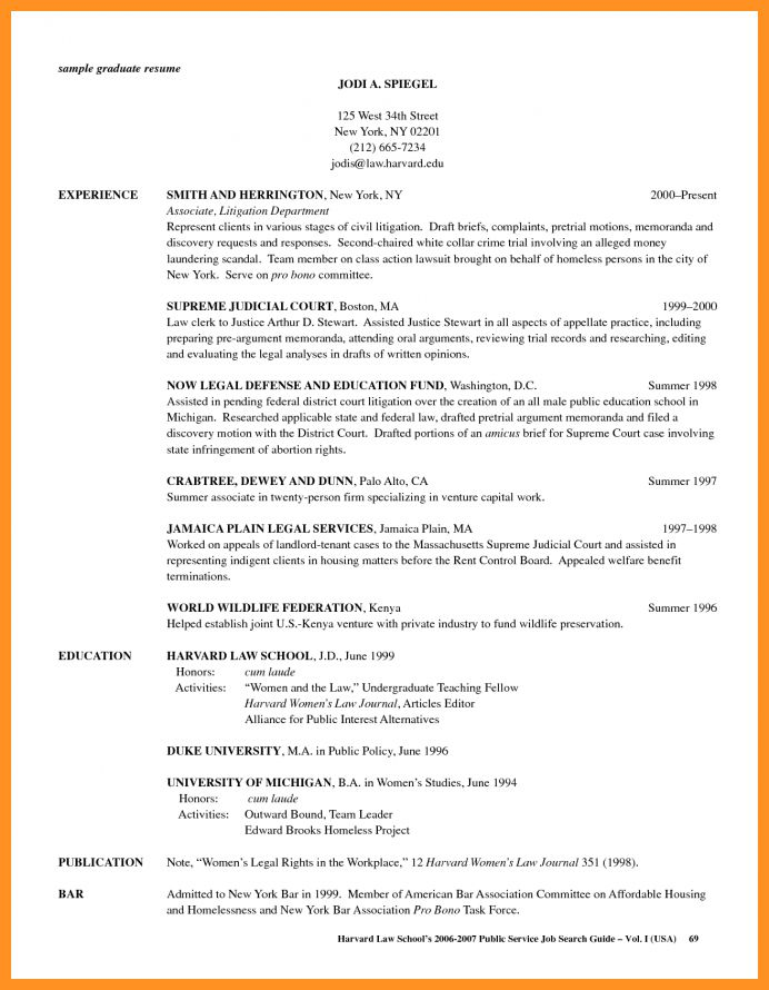 5+ law school resume template - application leter