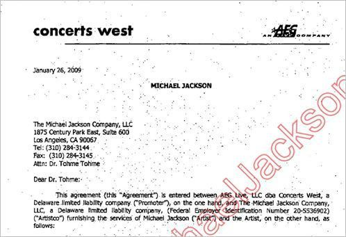 The AEG contract with Michael Jackson | Vindicating Michael