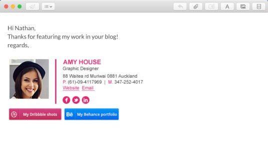 Create a Professional Mac Mail Signature - WiseStamp Mac Mail ...