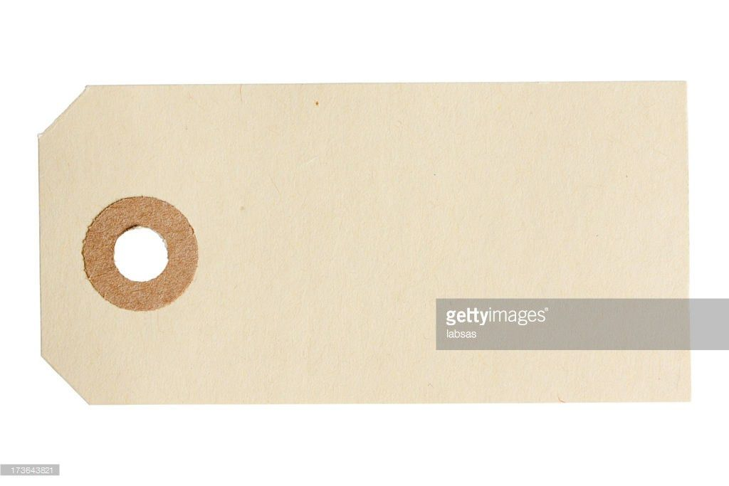 Blank Paper Tag Isolated On White Background Stock Photo | Getty ...