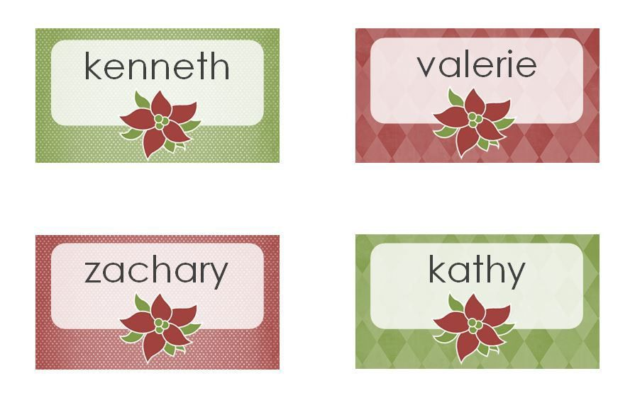 Christmas Dinner Place Cards | Avery Christmas Dinner Place Cards