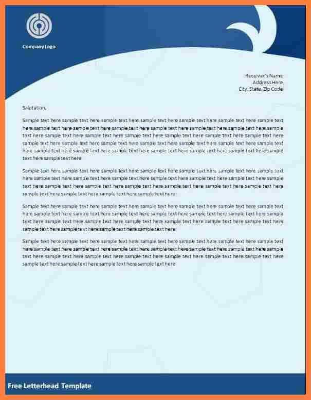 8+ company letterhead template word | Company Letterhead
